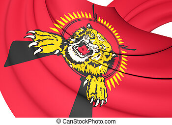 Flag of Tamil Eelam. Close Up.
