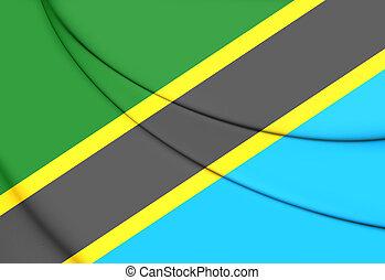 Flag of Tanzania. 3D Illustration.