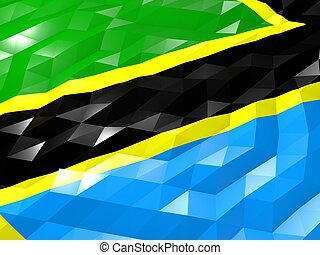 Flag of Tanzania 3D Wallpaper Illustration