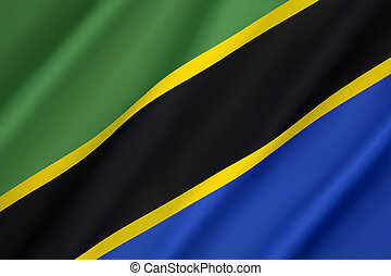 Flag of Tanzania - Adopted in 1964 to replace the individual...