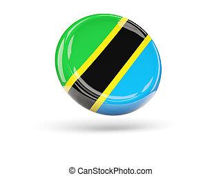 Flag of tanzania. Round icon
