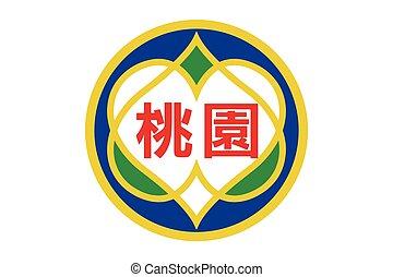 Flag of Taoyuan, Taiwan. Vector Format