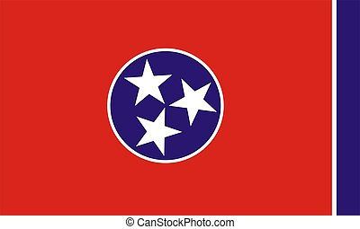 Flag Of Tennessee - 2D illustration of Tennessee flag...