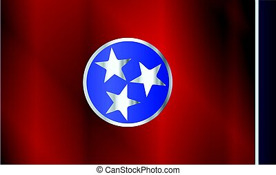 Flag of Tennessee Gloss