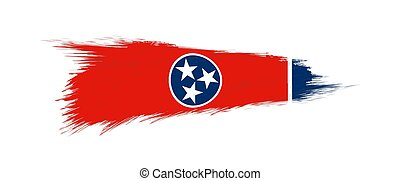 Flag of Tennessee US State in grunge brush.