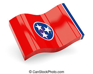 Flag of tennessee, US state wave icon