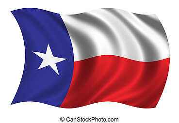 Flag of Texas waving ni the wind