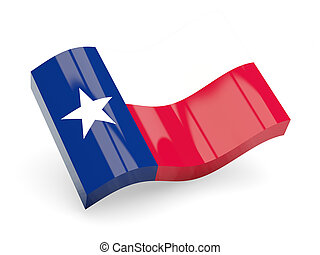 Flag of texas, US state wave icon
