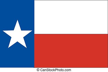 Flag of Texas. Vector illustration