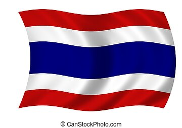 Flag of Thailand - Waving flag of Thailand