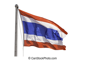 Flag of Thailand on white background