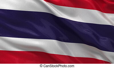 Flag of Thailand - seamless loop