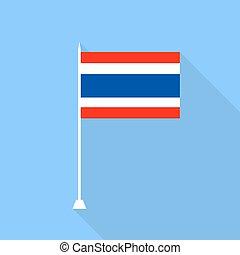Flag of Thailand. Vector illustration .