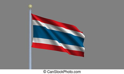 Flag of Thailand waving in the wind