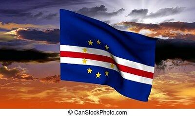 Flag of the archipelago of islands of Cape Verde