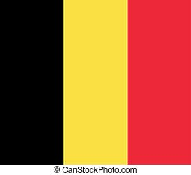 Flag of the Belgium. Vector illustration EPS10
