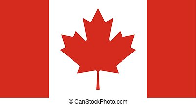 Flag of the Canada. Vector illustration EPS10