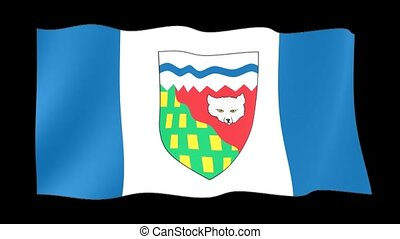 Flag of the Canadian Province of Northwest Territories. Waving (PNG)