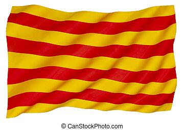 Flag of the Catalonia region of Spain