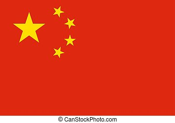 Flag of the China. Vector illustration EPS10