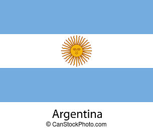 Flag of the country argentina. Vector illustration.