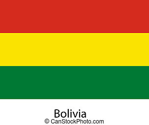 Flag of the country bolivia. Vector illustration.