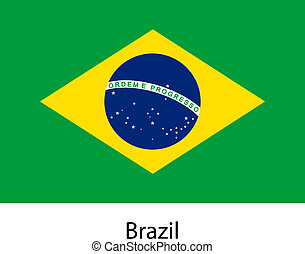 Flag of the country brazil. Vector illustration.