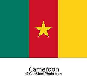 Flag of the country cameroon. Vector illustration.