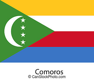 Flag of the country comoros. Vector illustration.