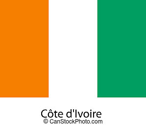 Flag  of the country  cote divoire. Vector illustration.