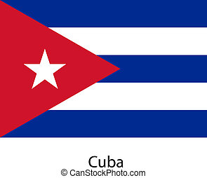 Flag of the country cuba. Vector illustration.