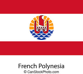 Flag  of the country  french polynesia. Vector illustration.