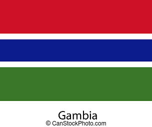 Flag of the country gambia. Vector illustration.