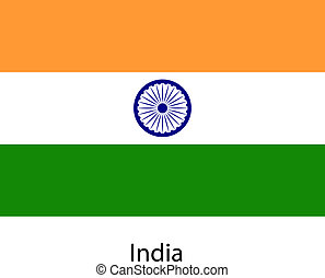 Flag of the country india. Vector illustration.