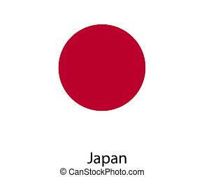 Flag of the country japan. Vector illustration.