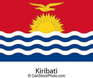 Flag of the country kiribati. Vector illustration.