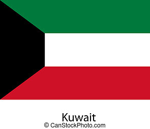 Flag of the country kuwait. Vector illustration.