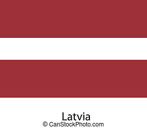 Flag  of the country  latvia. Vector illustration.