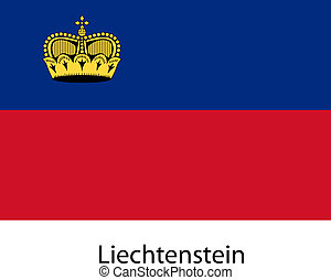 Flag of the country liechtenstein. Vector illustration.