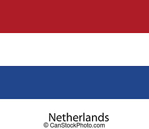 Flag of the country netherlands. Vector illustration.