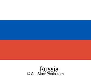 Flag of the country russia. Vector illustration.