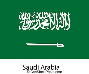 Flag of the country saudi arabia. Vector illustration.