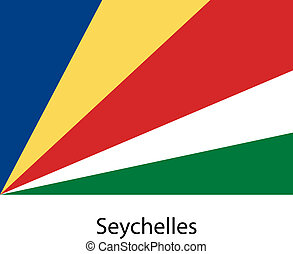 Flag of the country seychelles. Vector illustration.