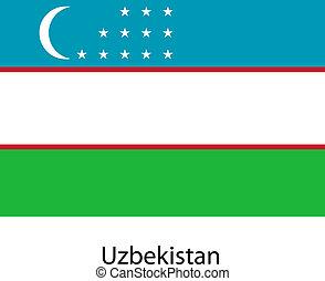 Flag of the country uzbekistan. Vector illustration.