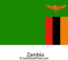 Flag of the country zambia. Vector illustration.