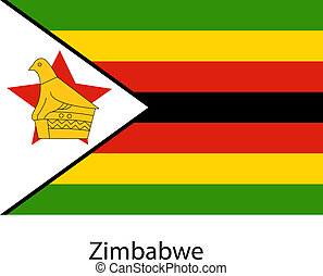 Flag of the country zimbabwe. Vector illustration.