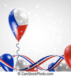 Flag of the Czech Republic on balloon