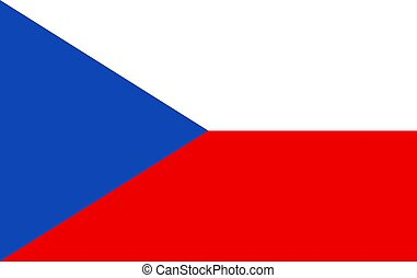 Flag of the Czech Republic. Vector Illustration