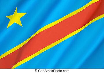 Flag of the Democratic Republic of the Congo...