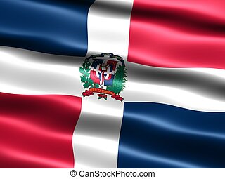Flag of the Dominican Republic, computer generated ...